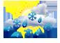 Sneh s daždom