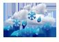 sneh s dažďom